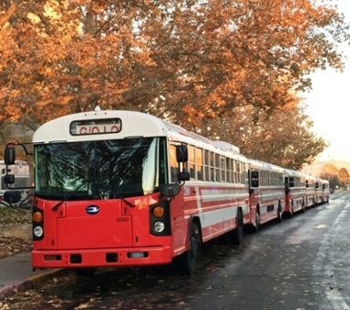 Event shuttles in Fall