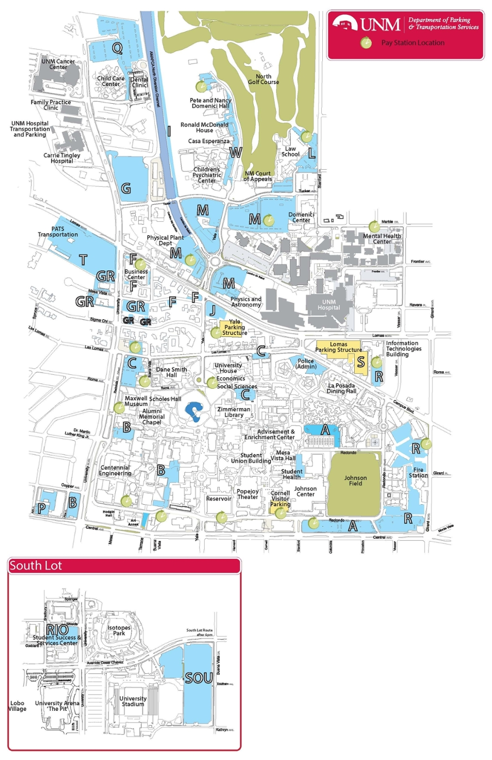 Pay Station Parking Map