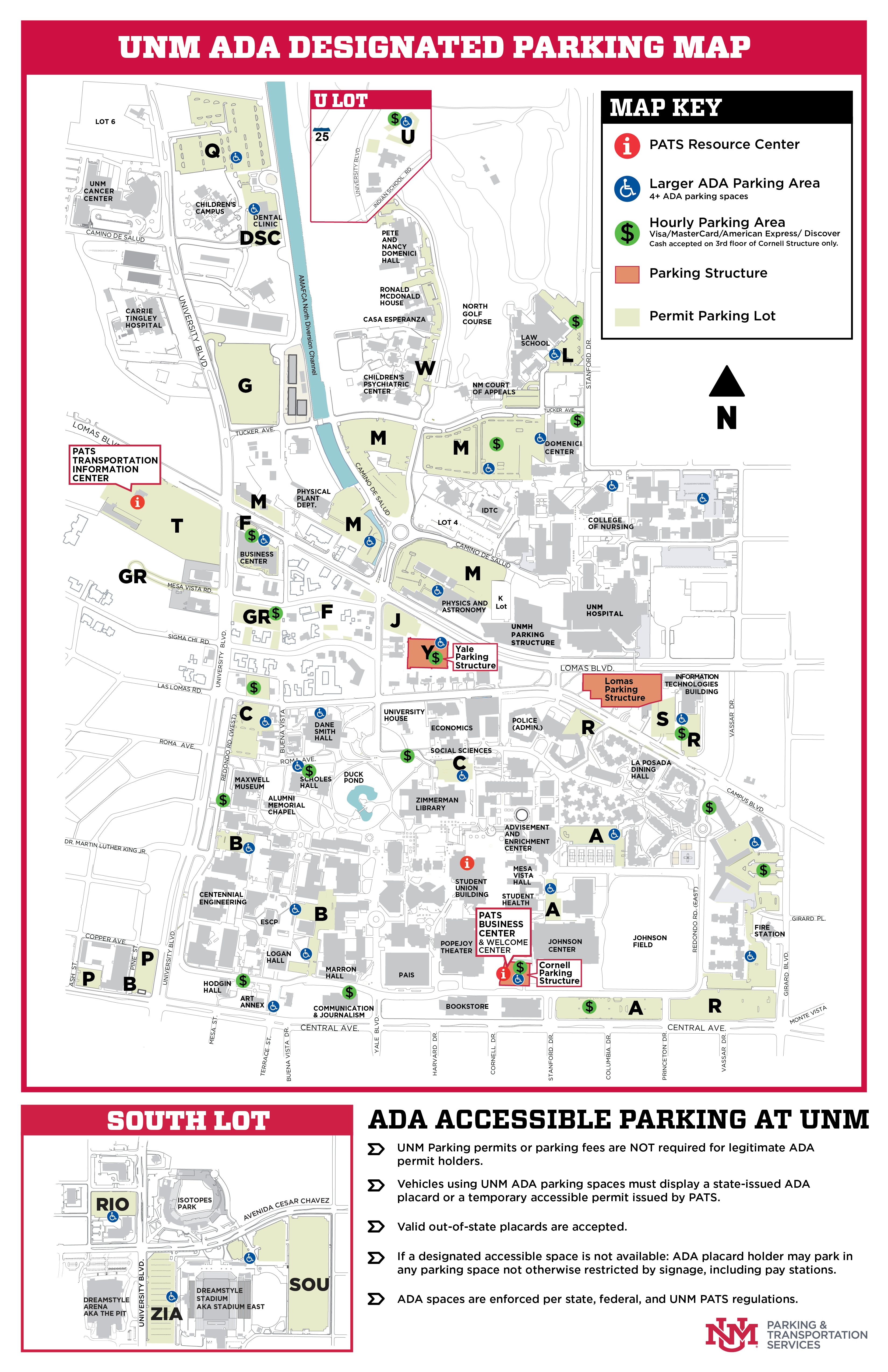 Unm Parking Map Accessible Parking :: Parking & Transportation Services | The  Unm Parking Map